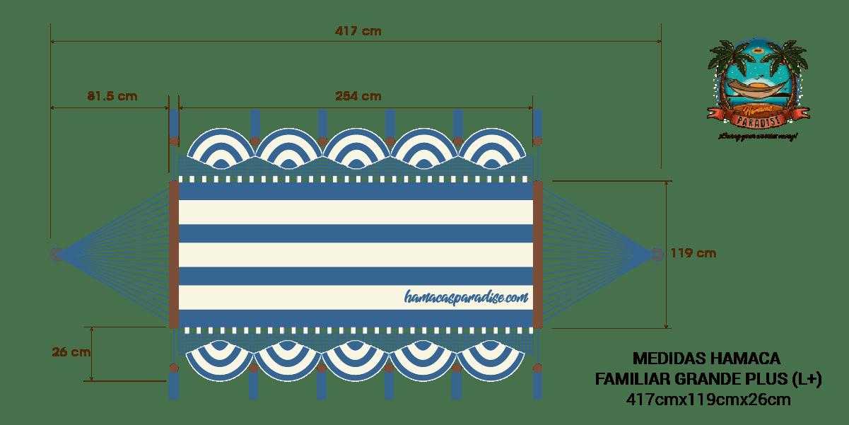 Dimensiones hamaca familiar grande plus