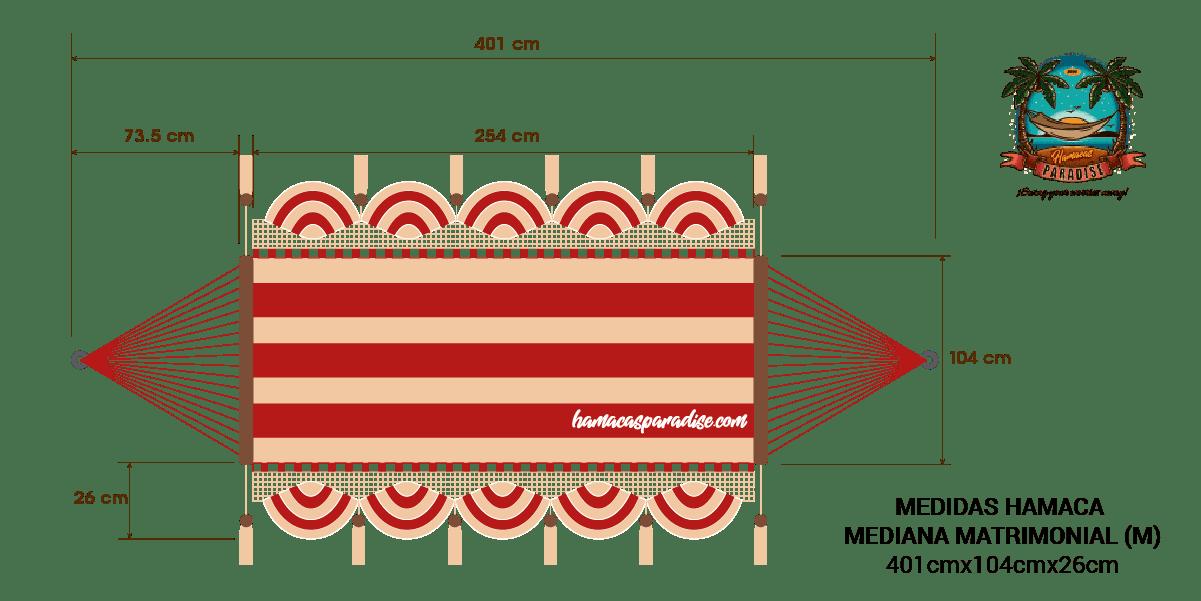 Dimensiones Hamaca Matrimonial Mediana