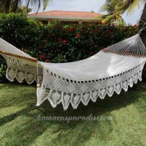 hamaca blanca grande de lujo